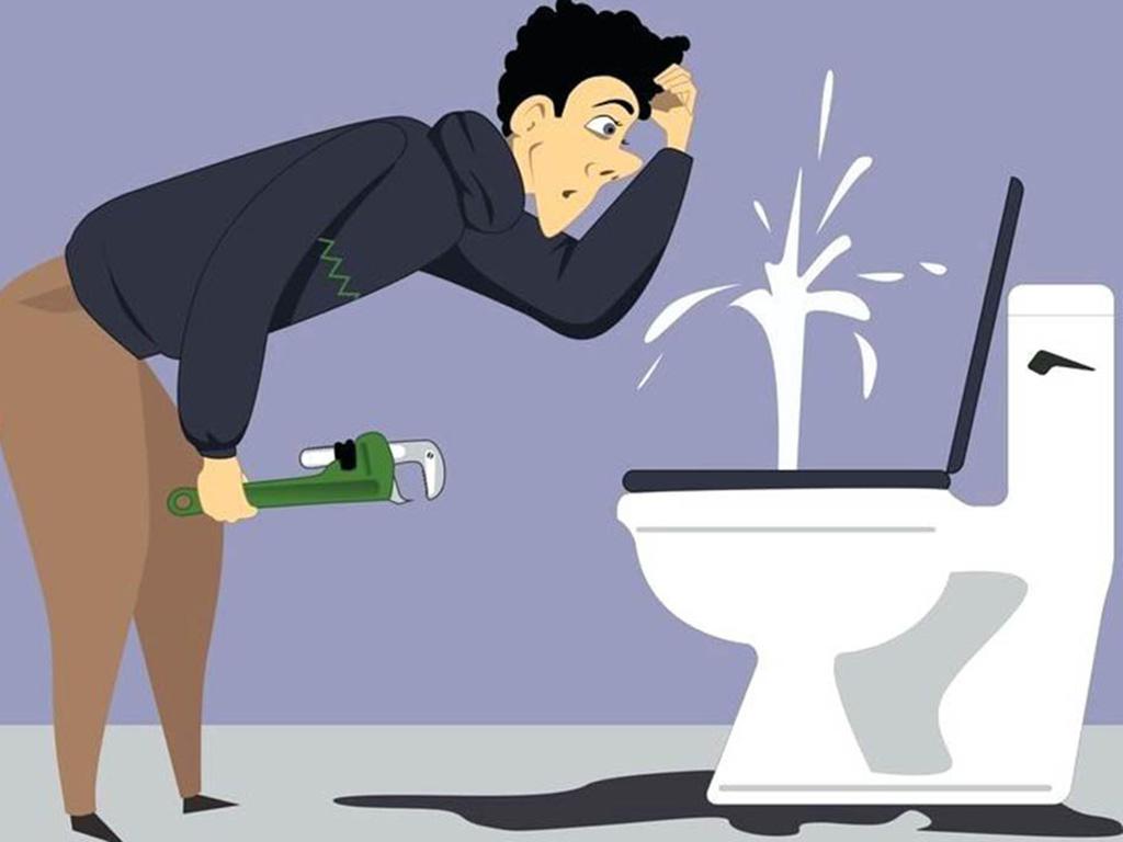 厕所马桶堵了怎么办