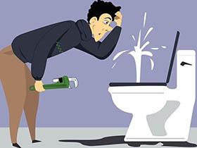 厕所马桶堵了怎么通?专业人士来支招!