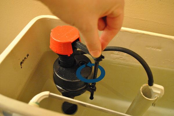 旋转马桶水箱水位浮子