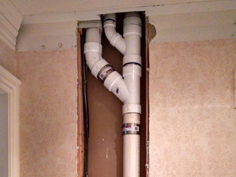排水管维修完工图